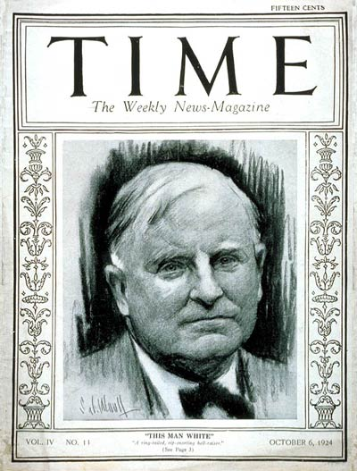 TIME Magazine Cover: William A. White -- Oct. 6, 1924