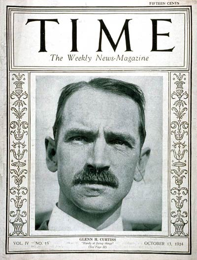 TIME Magazine Cover: Glenn H. Curtiss -- Oct. 13, 1924