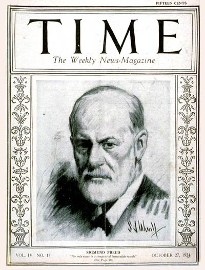 TIME Magazine Cover: Sigmund Freud -- Oct. 27, 1924
