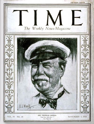 TIME Magazine Cover: Sir Thomas Lipton -- Nov. 3, 1924