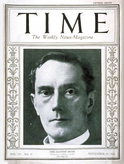 TIME Magazine Cover: William R. Inge -- Nov. 24, 1924