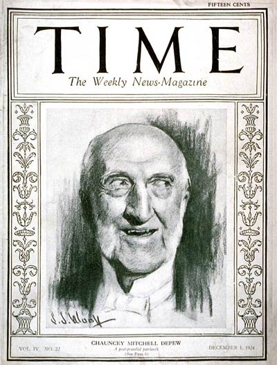 TIME Magazine Cover: Chauncey M. Depew -- Dec. 1, 1924