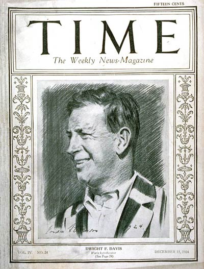 TIME Magazine Cover: Dwight F. Davis -- Dec. 15, 1924