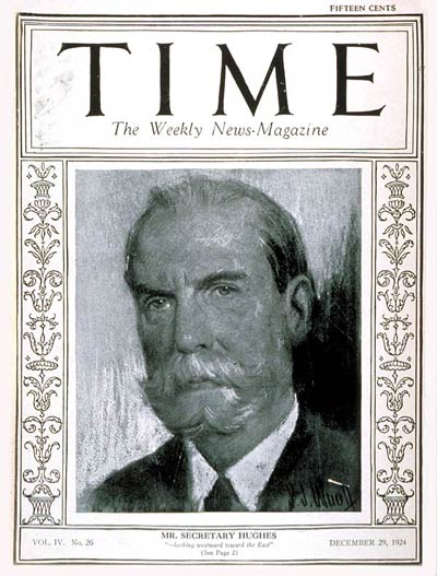 TIME Magazine Cover: Charles Evans Hughes -- Dec. 29, 1924
