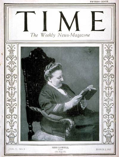 TIME Magazine Cover: Amy Lowell -- Mar. 2, 1925