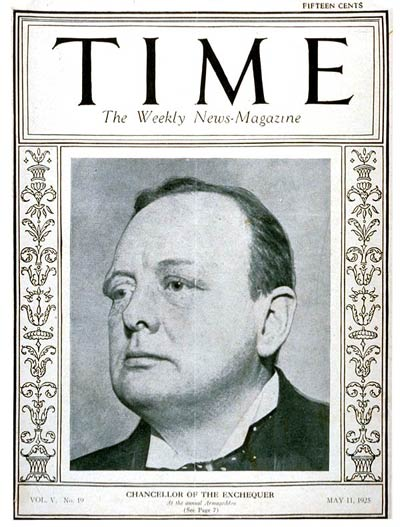 TIME Magazine Cover: Winston Churchill -- May 11, 1925