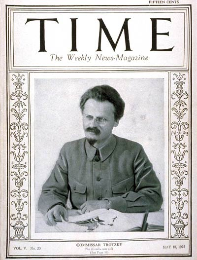 Russian revolutionary exile Leon Trotsky