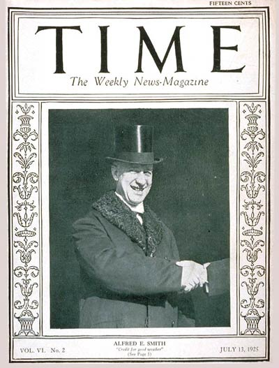TIME Magazine Cover: Governor Alfred E. Smith -- July 13, 1925