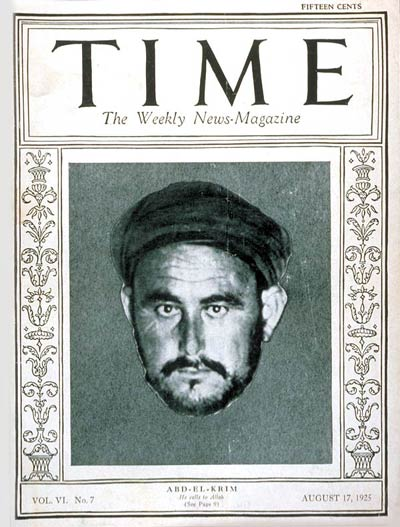 TIME Magazine Cover: Abd-el-Krim -- Aug. 17, 1925