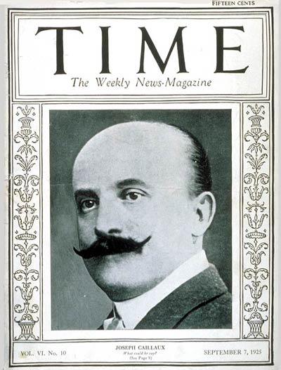 TIME Magazine Cover: Joseph Caillaux -- Sep. 7, 1925