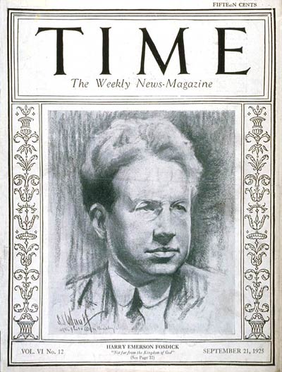 TIME Magazine Cover: Harry Emerson Fosdick -- Sep. 21, 1925