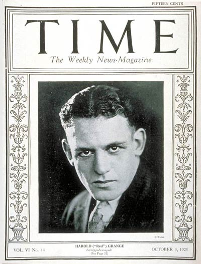 TIME Magazine Cover: Red Grange -- Oct. 5, 1925