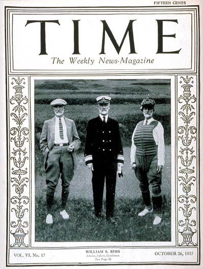 TIME Magazine Cover: Admiral William Sims -- Oct. 26, 1925