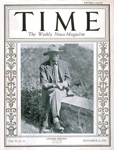 TIME Magazine Cover: Governor Gifford Pinchot -- Nov. 23, 1925