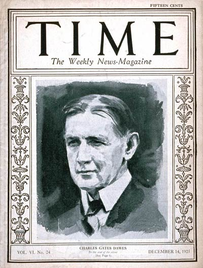 TIME Magazine Cover: Charles G. Dawes -- Dec. 14, 1925