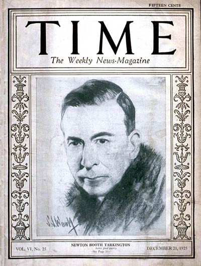 TIME Magazine Cover: Booth Tarkington -- Dec. 21, 1925