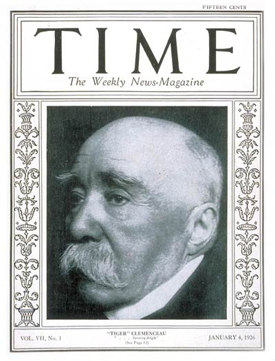 TIME Magazine Cover: Georges Clemenceau -- Jan. 4, 1926