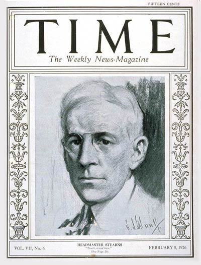 TIME Magazine Cover: Alfred E. Stearns -- Feb. 8, 1926