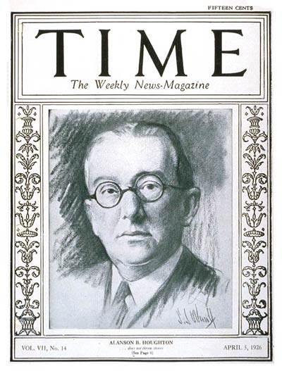 TIME Magazine Cover: Alanson B. Houghton -- Apr. 5, 1926
