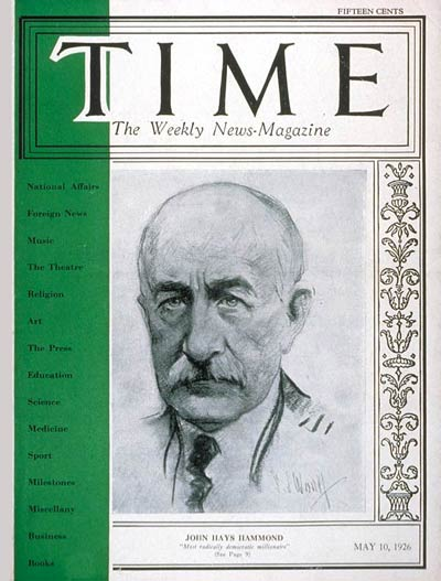 TIME Magazine Cover: John Hays Hammond -- May 10, 1926