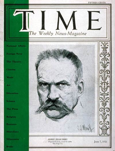 TIME Magazine Cover: Marshall Pilsudski -- June 7, 1926