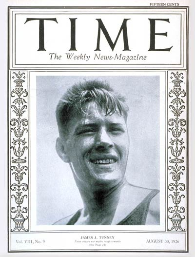 TIME Magazine Cover: James J. Tunney -- Aug. 30, 1926