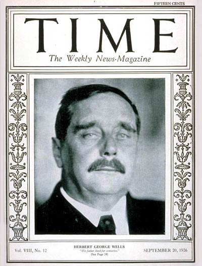 TIME Magazine Cover: H.G. Wells -- Sep. 20, 1926