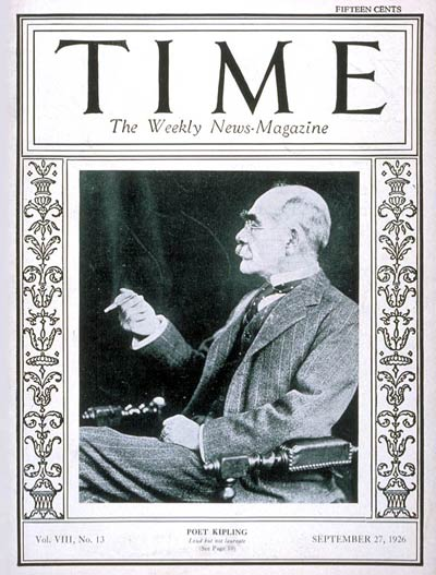 TIME Magazine Cover: Rudyard Kipling -- Sep. 27, 1926
