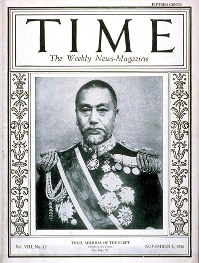 TIME Magazine Cover: Admiral Heihachiro Togo -- Nov. 8, 1926