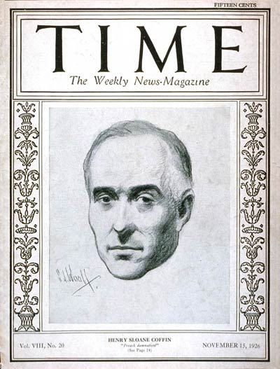 TIME Magazine Cover: Henry Sloane Coffin -- Nov. 15, 1926