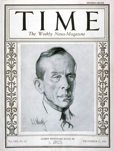 TIME Magazine Cover: Alfred P. Sloan Jr. -- Dec. 27, 1926