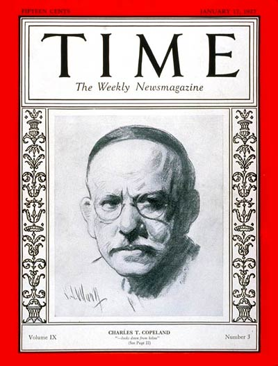 TIME Magazine Cover: Charles T. Copeland -- Jan. 17, 1927