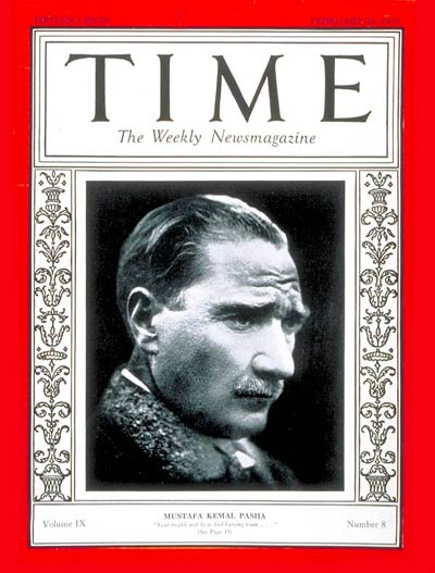 TIME Magazine Cover: Mustafa Kemal Pasha -- Feb. 21, 1927
