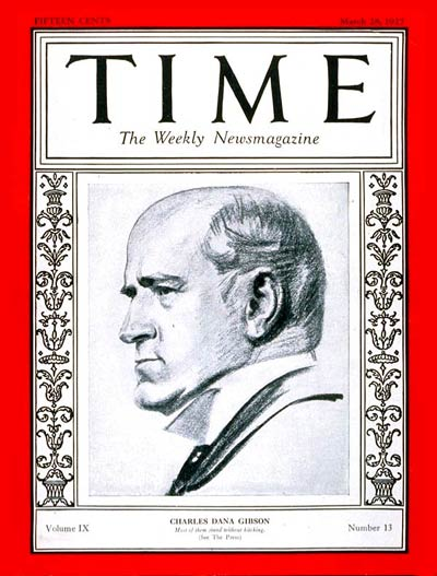 TIME Magazine Cover: Charles Dana Gibson -- Mar. 28, 1927