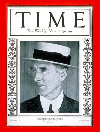 TIME Magazine Cover: Cornelius McGillicuddy -- Apr. 11, 1927