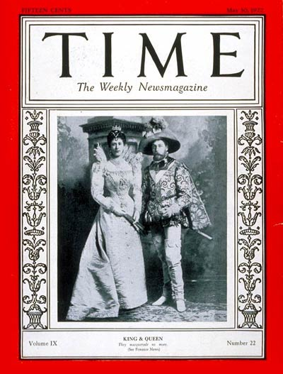 TIME Magazine Cover: King George V & Queen Mary -- May 30, 1927