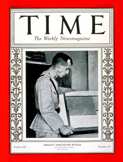 TIME Magazine Cover: Brig. General Butler -- June 20, 1927