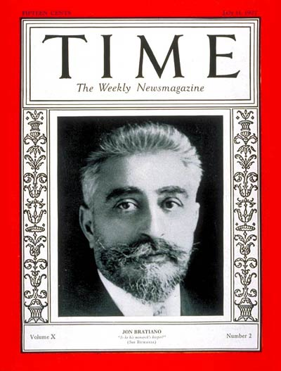 TIME Magazine Cover: Jon Bratiano -- July 11, 1927