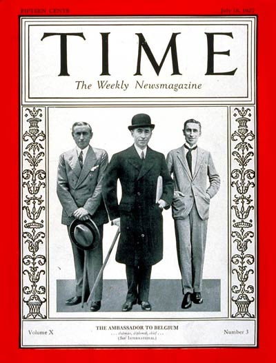TIME Magazine Cover: Hugh S. Gibson -- July 18, 1927