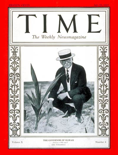 TIME Magazine Cover: Wallace Farrington -- July 25, 1927