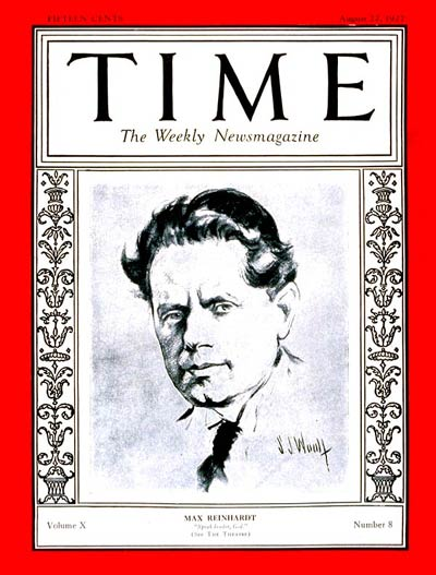 TIME Magazine Cover: Max Reinhardt -- Aug. 22, 1927