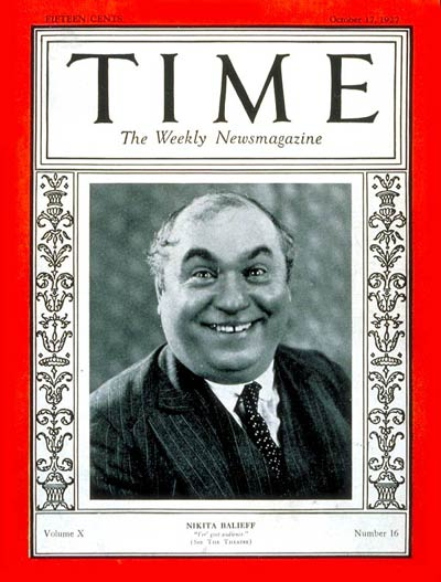 TIME Magazine Cover: Nikita Balieff -- Oct. 17, 1927