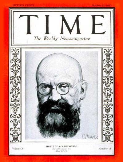 TIME Magazine Cover: Alfred Hertz -- Oct. 31, 1927