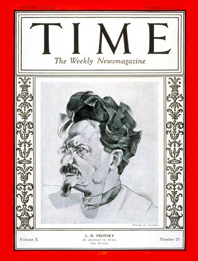 TIME Magazine Cover: Leon D. Trotsky -- Nov. 21, 1927