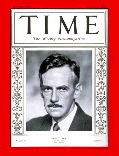 TIME Magazine Cover: Eugene O'Neill -- Feb. 13, 1928