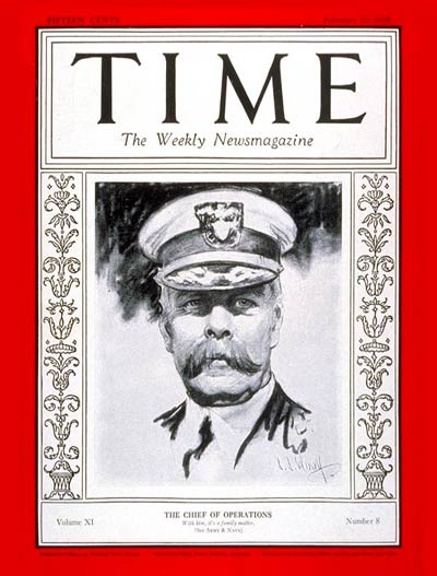 TIME Magazine Cover: Admiral Charles Hughes -- Feb. 20, 1928