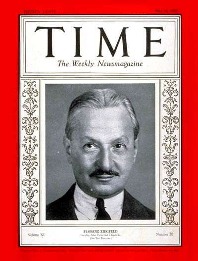 TIME Magazine Cover: Florenz Ziegfeld -- May 14, 1928