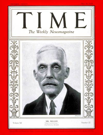 TIME Magazine Cover: Andrew W. Mellon -- May 28, 1928
