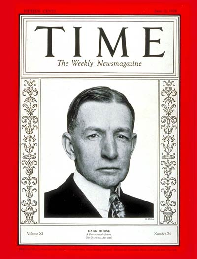 TIME Magazine Cover: Charles G. Dawes -- June 11, 1928