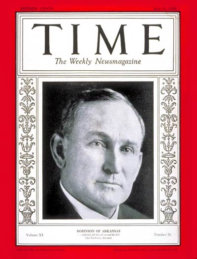 TIME Magazine Cover: Senator Joseph Robinson -- June 25, 1928